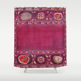 Shakhrisyabz  Southwest Uzbekistan Suzani Embroidery Print Shower Curtain