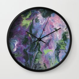 Wisteria Abstract Wall Clock