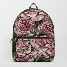 Vintage & Shabby chic -  Retro Roses Flower Garden Pattern Backpack