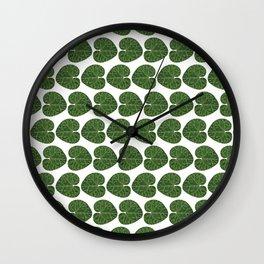 Cyclamen leaf pattern Wall Clock