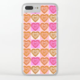 Skull and Bones Valentine Clear iPhone Case