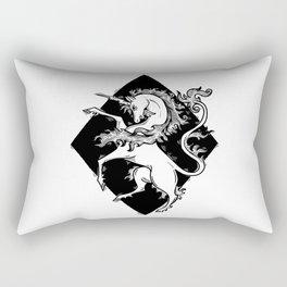 unicorn coat of arms Rectangular Pillow