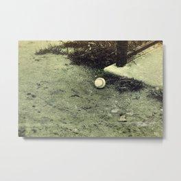 Lone Baseball; Experimental Approach Metal Print