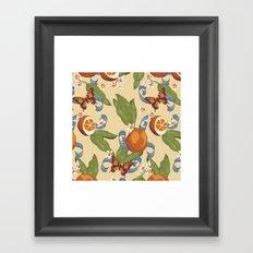 Botanical Oranges Framed Art Print