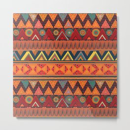 Tribal Ethnic (earth colors) Metal Print