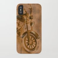 motorbike iPhone & iPod Cases featuring motorbike grunge by Christine baessler