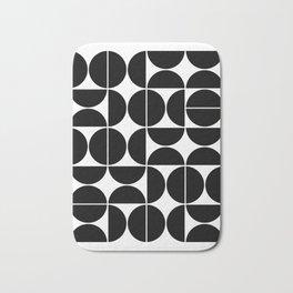 Mid Century Modern Geometric 04 Black Bath Mat