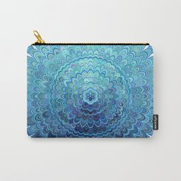 Frozen Oval Mandala Carry-All Pouch