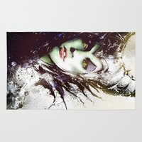 maleficent Area & Throw Rugs featuring Maleficent by Vincent Vernacatola