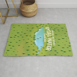 Rydal Water Cumbria Travel map Rug