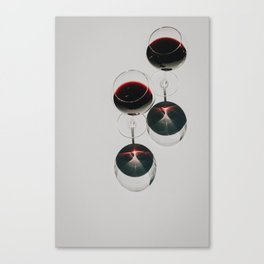 On Wednesdays We Drink Red Wine Canvas Print