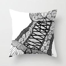 La femme n.5 Throw Pillow