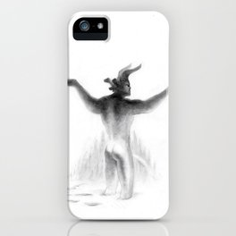 Krampus ~ sNOw f**ks given ~ No Border iPhone Case