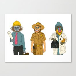 Monkey Workers Canvas Print