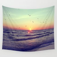 key Wall Tapestries featuring Siesta Key Sunset by CAPow!