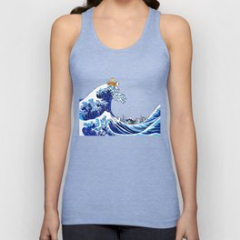 Surfs up Calvin! Unisex Tank Top
