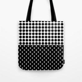 Black and white polka dot .3 Tote Bag