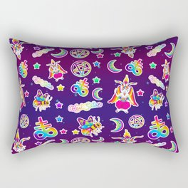 1997 Neon Rainbow Occult Sticker Collection Rectangular Pillow
