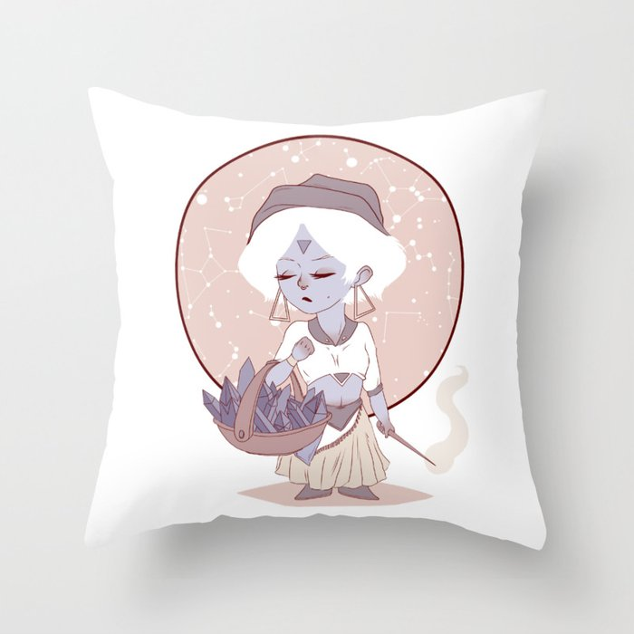 Moon child (red) Throw Pillow