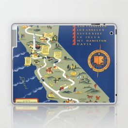 CALIFORNIA University map MAP Berkeley Laptop & iPad Skin