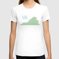 virginia T-shirts featuring Virginia by Hum Chee