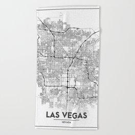 Minimal City Maps - Map Of Las Vegas, Nevada, United States Beach Towel