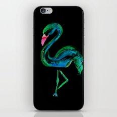 Flamingo black iPhone & iPod Skin