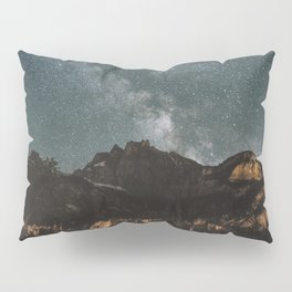 Space Night Mountains - Landscape Photography Pillow Sham
