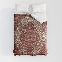 Persian Bakhtiari Old Century Authentic Colorful Deep Dark Red Tan Vintage Patterns Comforters