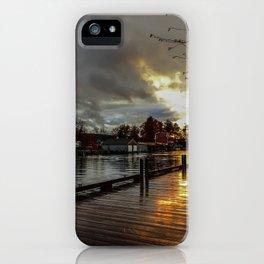 Winnisquam Launch iPhone Case