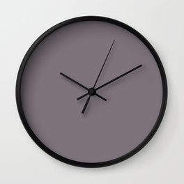 Plain Aubergine to Coordinate with Simply Design Color Palette Wall Clock
