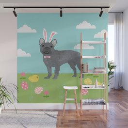 French Bulldog easter spring dog breed gifts pure breed frenchies grey coat Wall Mural