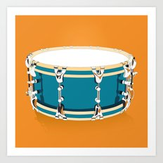 Drum - Orange Art Print