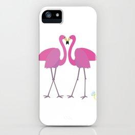 Flamingos in love iPhone Case