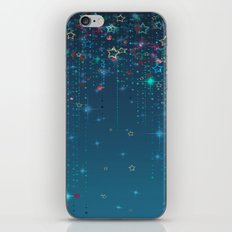 Magic fairy abstract shiny background with stars iPhone & iPod Skin