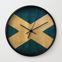 scotland Wall Clocks featuring Scotland by NicoWriter