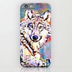 Wolf Watercolor Painting iPhone 6s Slim Case