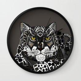 snow leopard lead Wall Clock