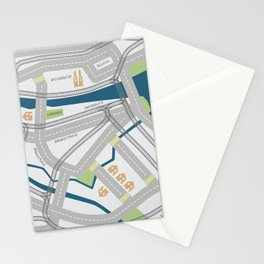The Streets of Zurich Stationery Cards