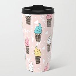 Ice cream dole whip rad geometric dessert treats pattern by andrea lauren Travel Mug