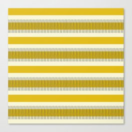 Yellow and black lines Canvas Print