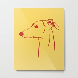 Italian Greyhound (Yellow and Red) Metal Print
