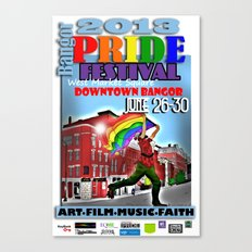 Commemorative Bangor PRIDE Festival 2013 Canvas Print