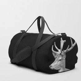 Deer Black Duffle Bag