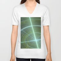 compass V-neck T-shirts featuring Compass by C Juarez
