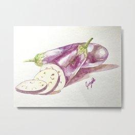 Eggplant Still Life Metal Print