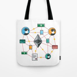 Ethereum Transactions Tote Bag