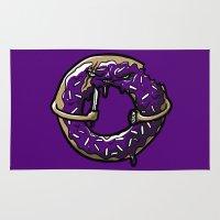 doughnut Area & Throw Rugs featuring Hurtz Doughnut by Jonah Makes Artstuff