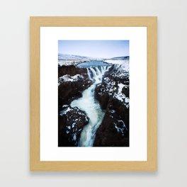Waterfall in Iceland Print (RR 267) Framed Art Print