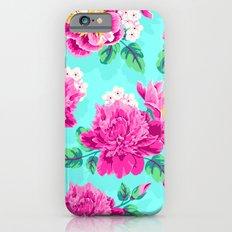Bright Flowers Pretty Peonies Slim Case iPhone 6